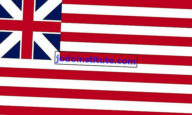 Bendera Grand Union, 1 Januari 1776 (Bendera Kesatuan British dan 13 jalur)